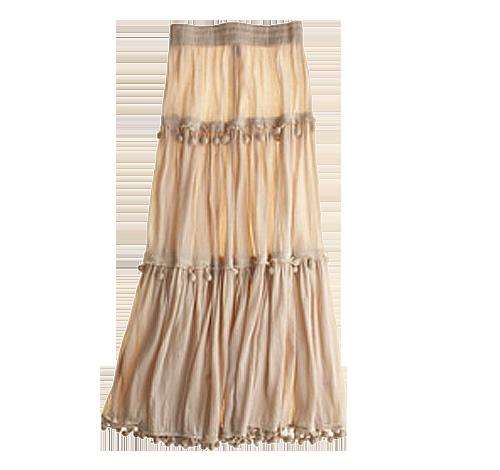 Calypso St Barth Megan Tiered Maxi Skirt