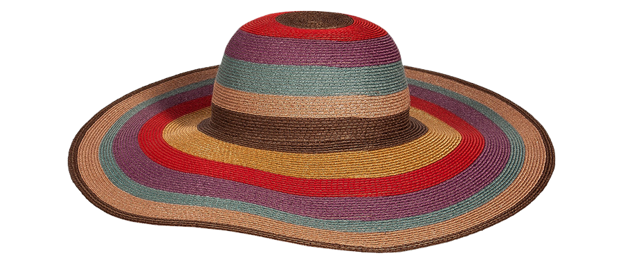 Etro Red Multicolor Striped Hat
