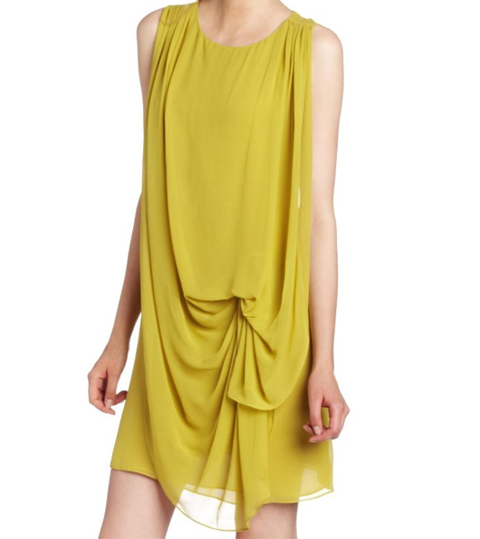 HALSTON HERITAGE Women's Draped Dress