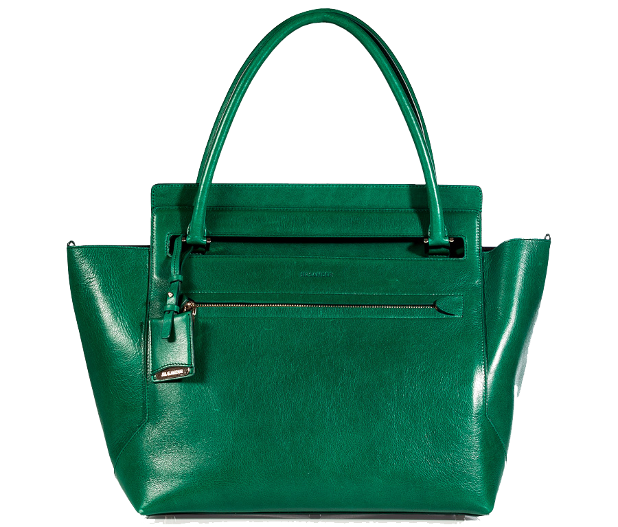 Jil Sander Emerald Leather New Malavoglia Bag $1745