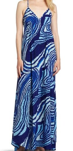eight sixty Womens Santorini Print Dress