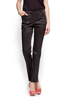 black satin pants - Pi Pants