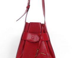 Louis Vuitton Red Epi Sac D'epaule Bag