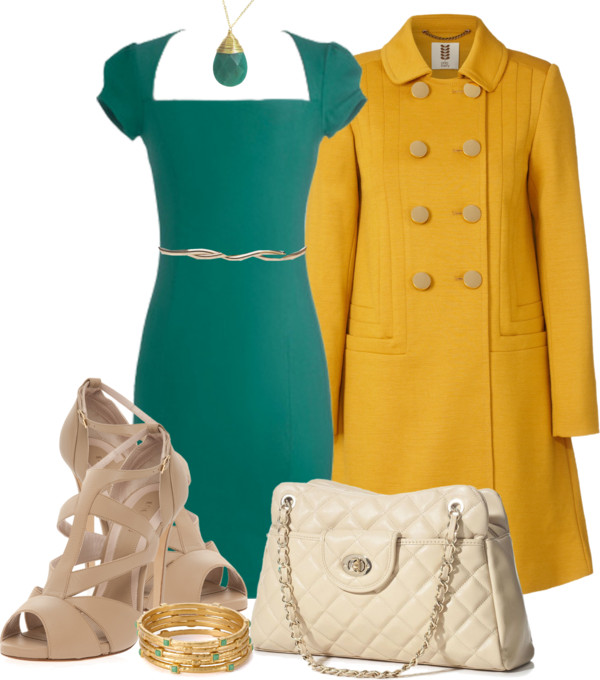 Heels ith yellow dress modcloth