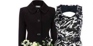 Michael Kors knee length dress Charlotte Russe ankle booties stud detail Cow leather studded clutch Cezanne Crystal cuff bracelet a Black Bow Pocket Coat Asprey diamond hoop earrings.