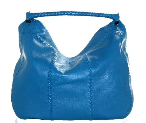 Bottega Veneta Turquoise Blue Cervo Hobo Bag $1,499