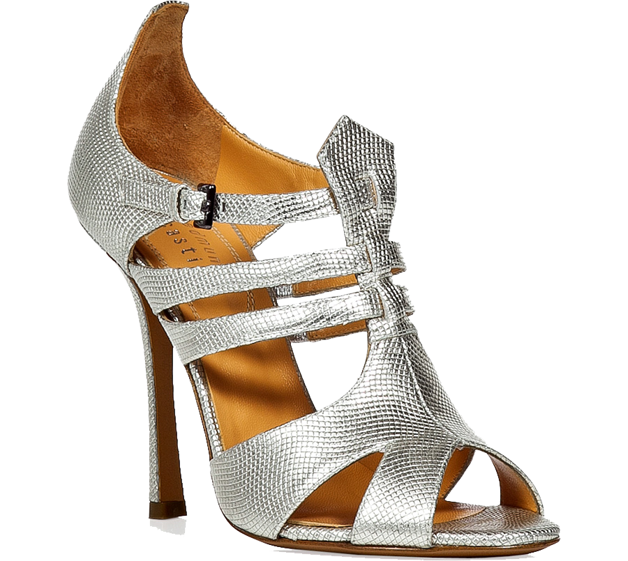 EDMUNDO CASTILLO Silver Metal Sandals