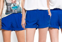 MANGO Electric blue shorts Cortita