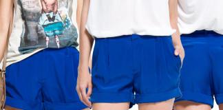 MANGO Electric blue shorts Cortita
