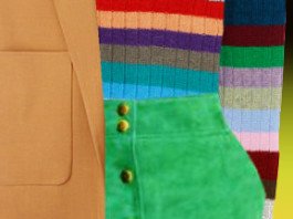 mango green suede skirt gucci multicolor sweater alexander wang vest chloe bag