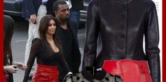 Burberry black leather peplum jacket Balenciaga red leather skirt Christian Louboutin pumps burberry black leather handbag