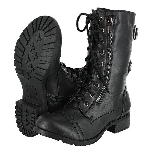 Wonderful  Boots Women Women Work Combat Motorcycles Ankle Boots Black Combat