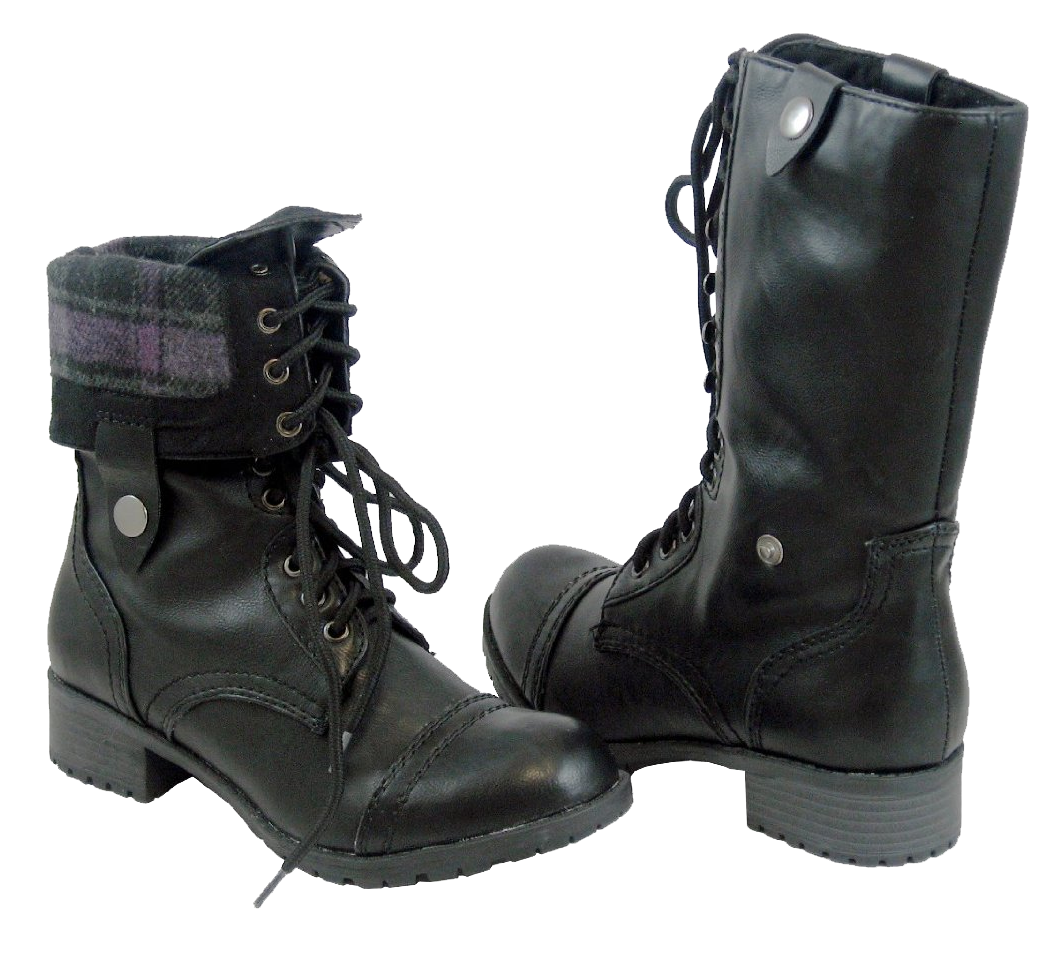 Combat Boots Fold Down - Yu Boots