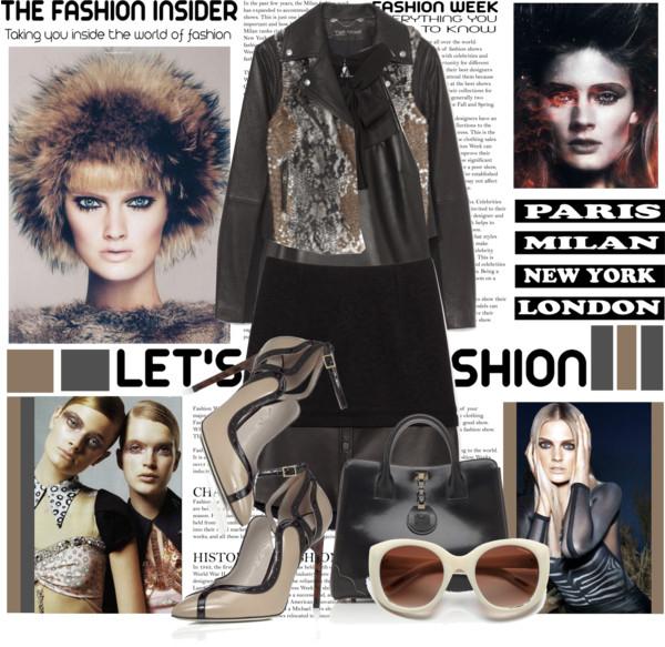 Yigal Azrouel Embossed Floral Jacquard SkirtTextured Leather Jacket Nina Ricci La Gracieuse Sunglasses Jason Wu Combo Halter Top Karen Pump Jourdan 2 Tote