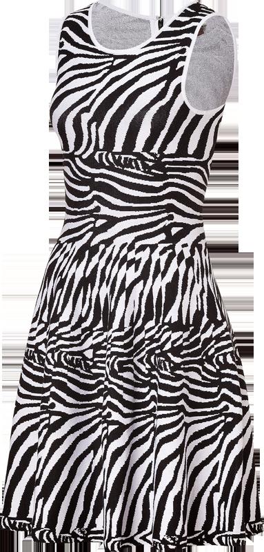 Zebra Print Sweater Dress 73