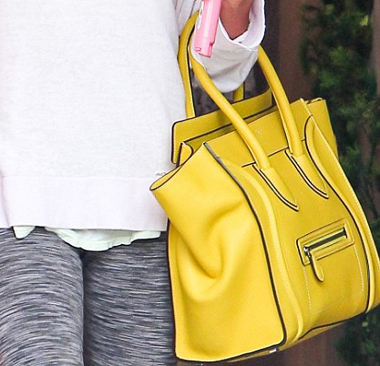 Ashley Tisdale's yellow Celine leather handbag