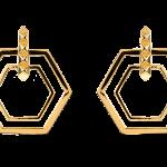 Eddie Borgo Gold-Plated Large Lattice Hoop Earring