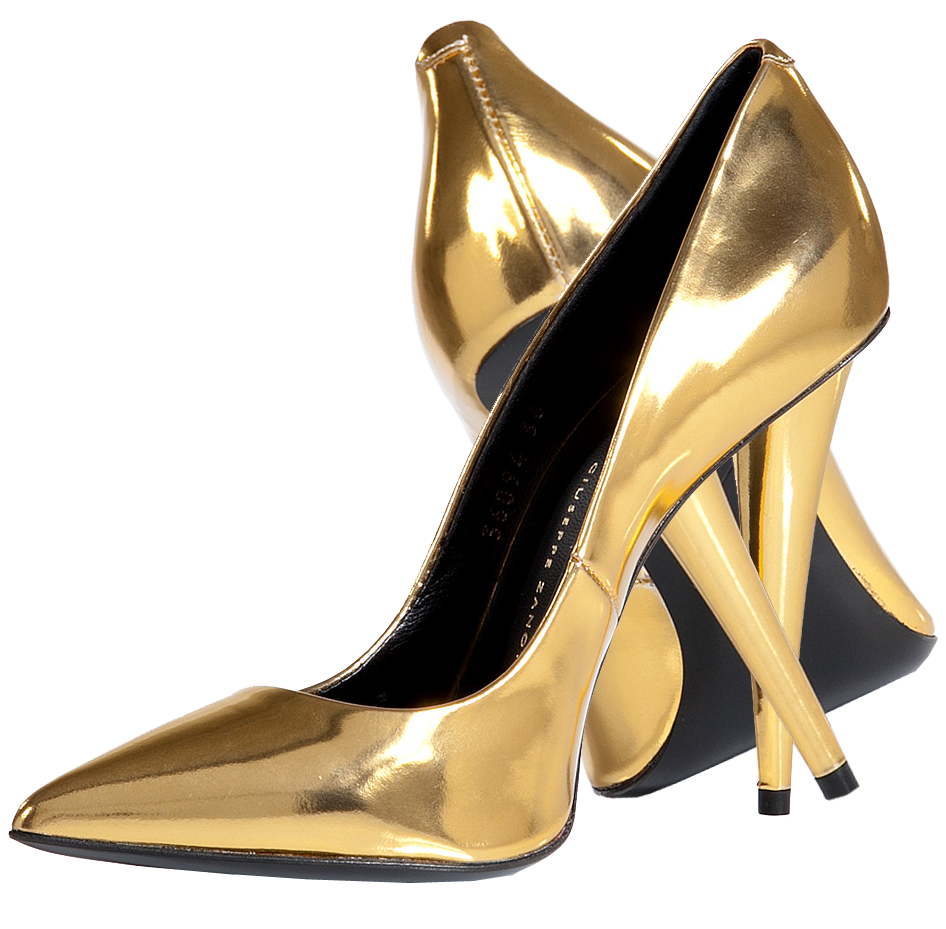 Giuseppe-Zanotti-Gold-Metallic-Boxcalf-Pointed-Toe-Pumps
