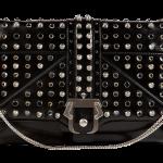 PAULA CADEMARTORI Leather Sylvie Clutch in Black