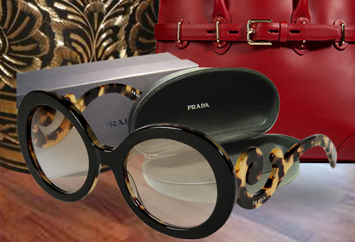 Prada Acetate Baroque Gradient Sunglasses