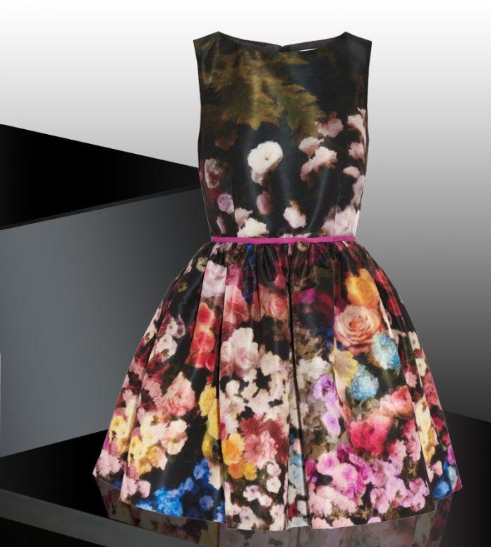 RED Valentino Floral-print taffeta dress
