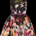 RED Valentino floral print taffeta dress