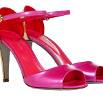 Sergio Rossi Pink Gold Patent Leather Open Toe Sandals