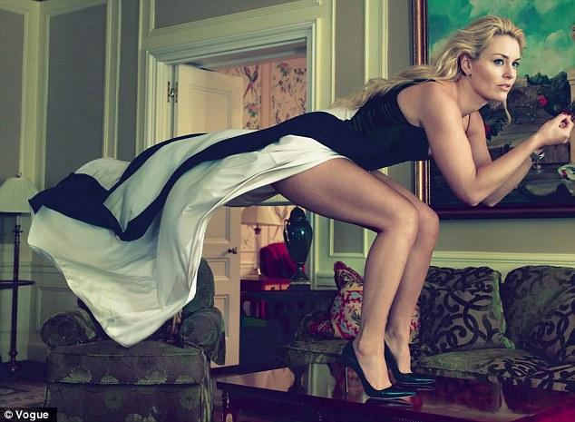 The Annie Leibovitz Lindsay Vonn photo for Vogue