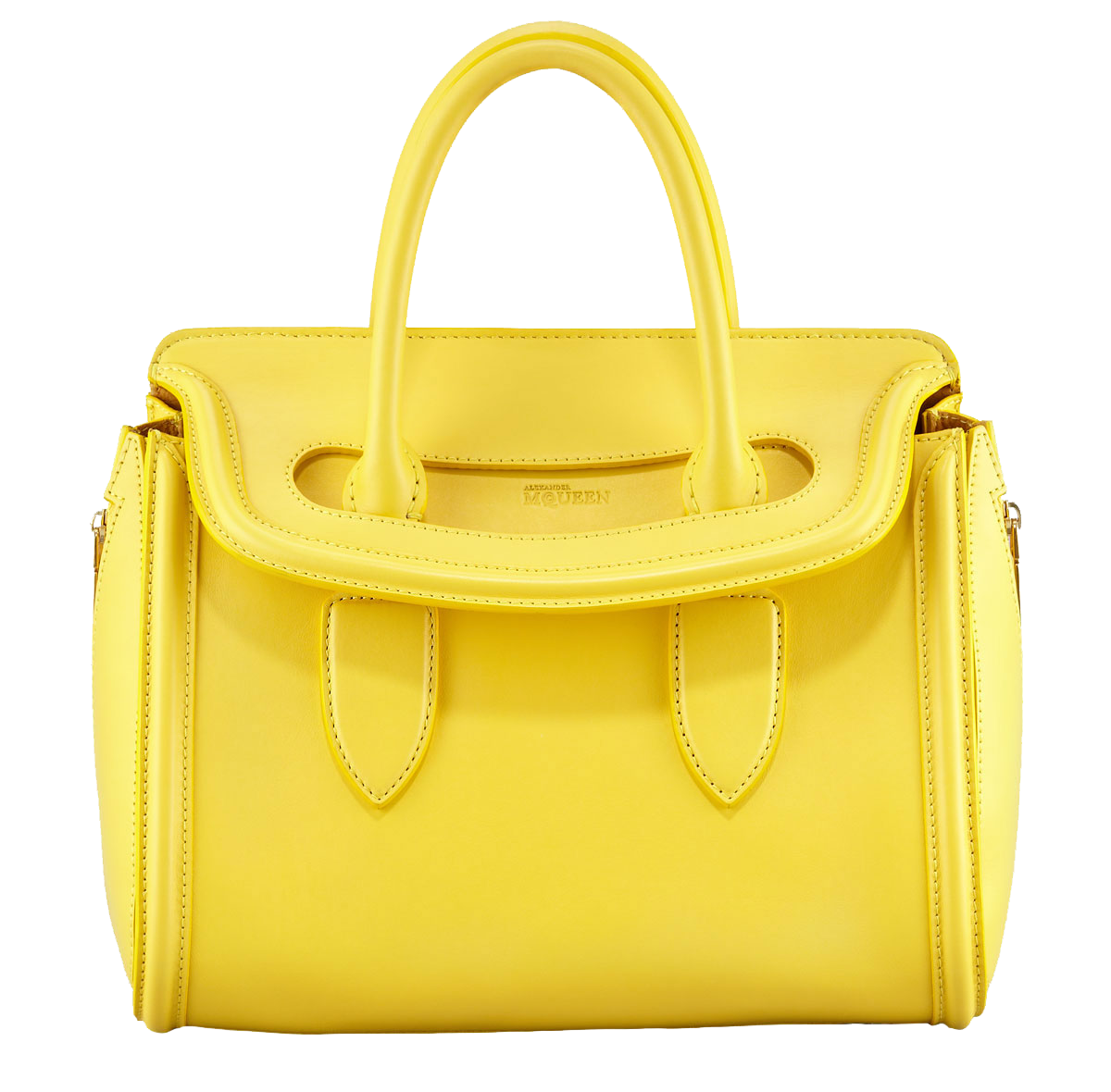 Alexander McQueen Small Heroine Satchel Bag Bright Yellow