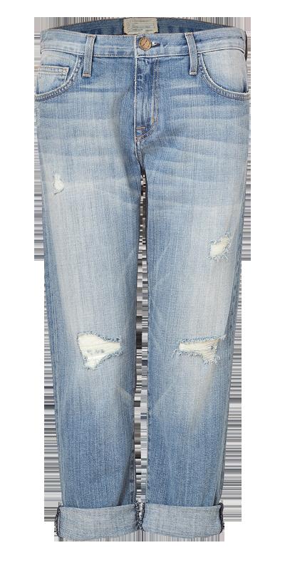 CURRENT ELLIOTT Washed Cotton Driftwood Destroy Boyfriend Jeans