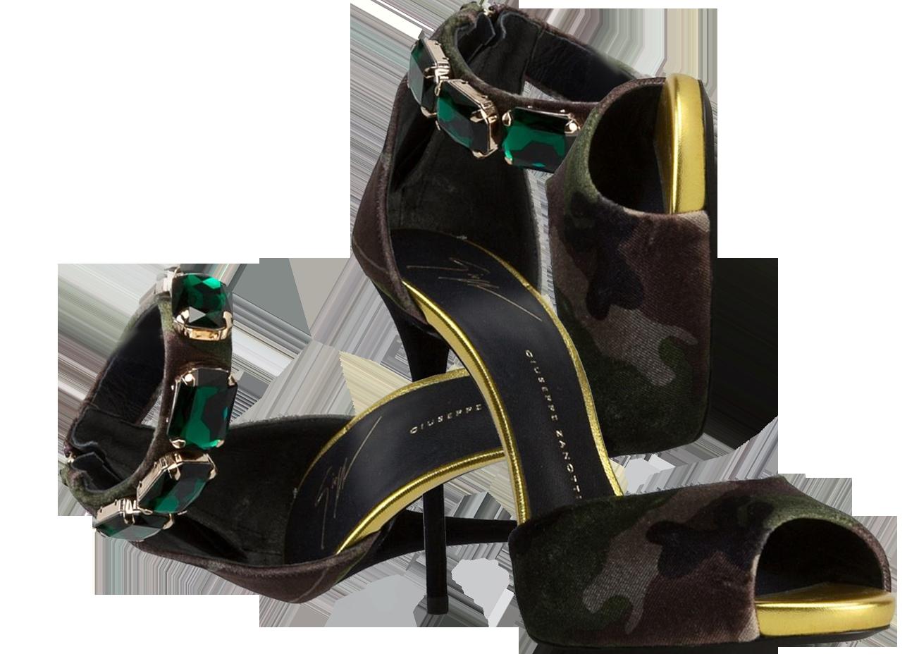 Giuseppe Zanotti Design camouflage print Coline Sandals