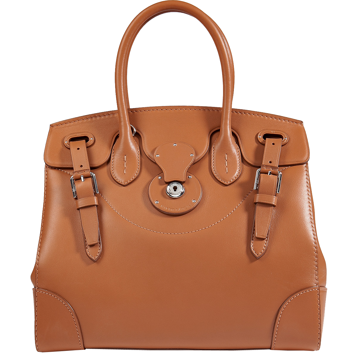 Ralph Lauren Collection Leather Soft Ricky Tote in Gold