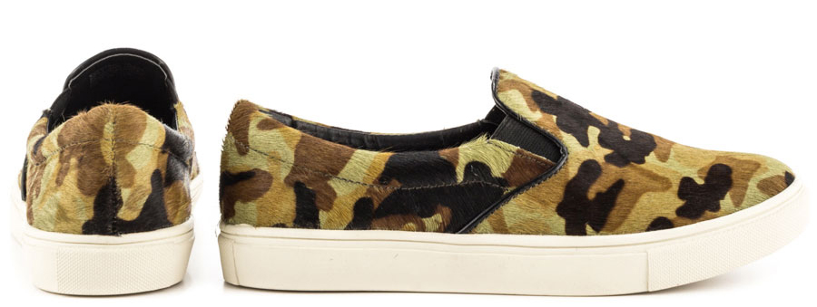 Steve madden Womens Eccentric Camoflage Canvas sneakers