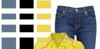 7 for all mankind blue jeans equipment blazing yellow shirt black leather ankle boots black leather bag elizabeth cole samantha wills jewelry