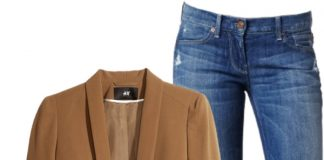 7 for all mankind straight leg jeans color block denim shirt black leather ankle boots brown dinner blazer