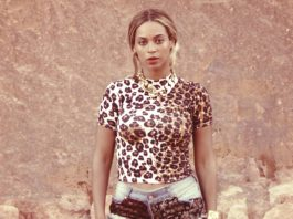 Beyonce leopard print short sleeve cropped top denim print short shorts