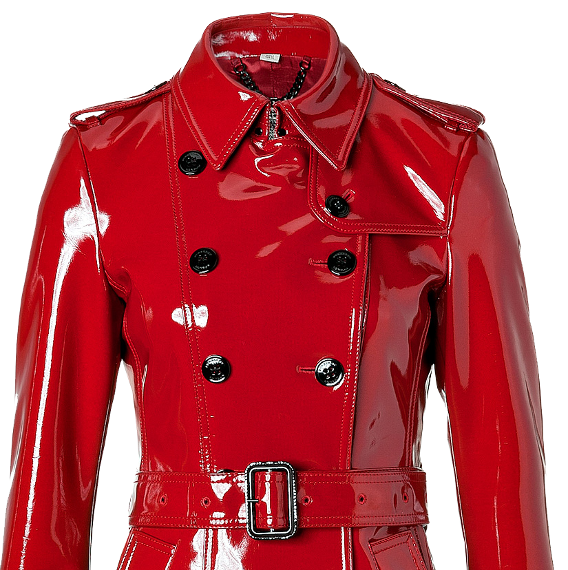 Burberry London Queenscourt Trench Coat in Lacquer Red