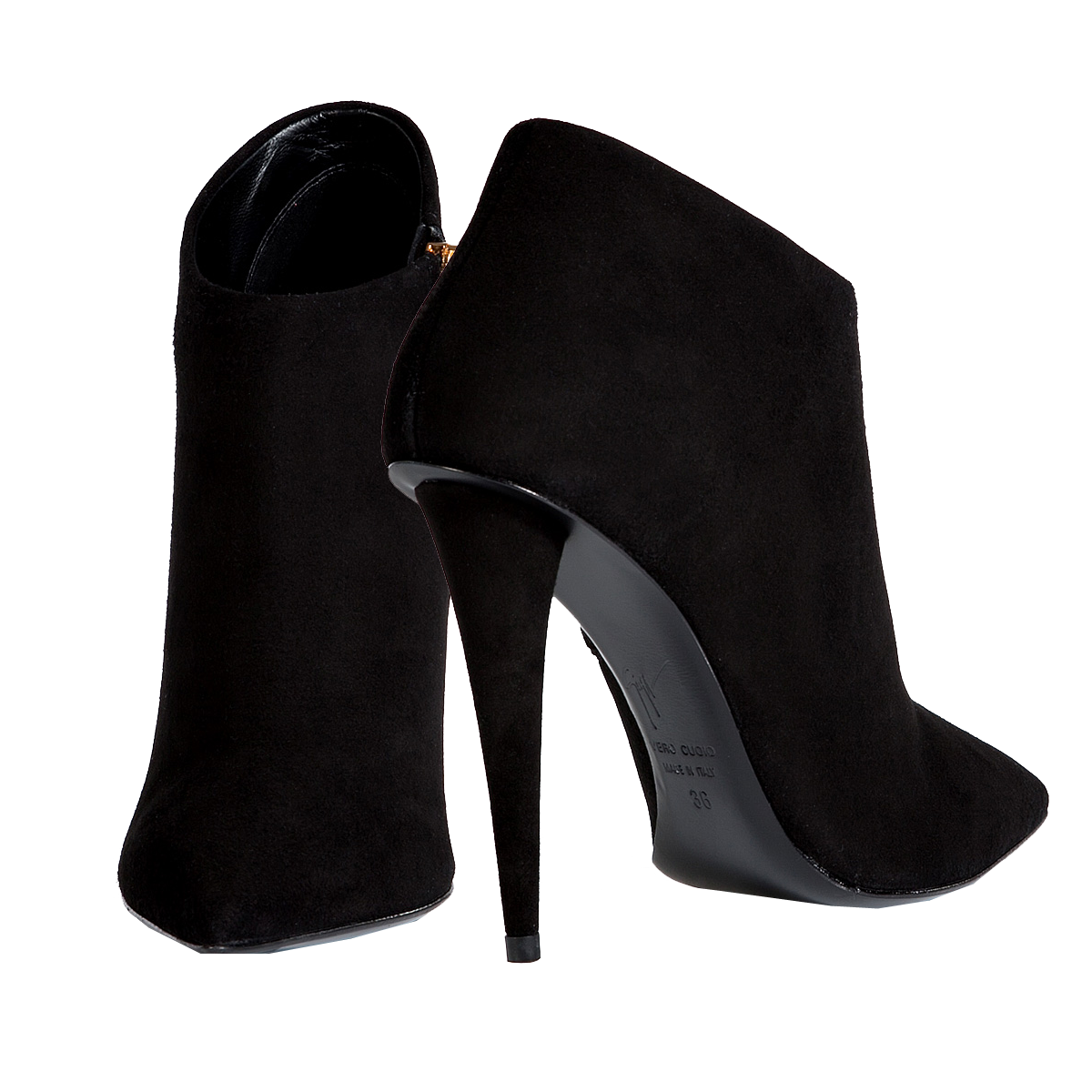 giuseppe zanotti black suede pointed toe ankle boots my