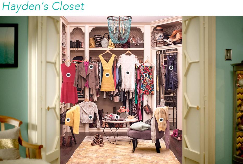 Hayden Panettiere closet