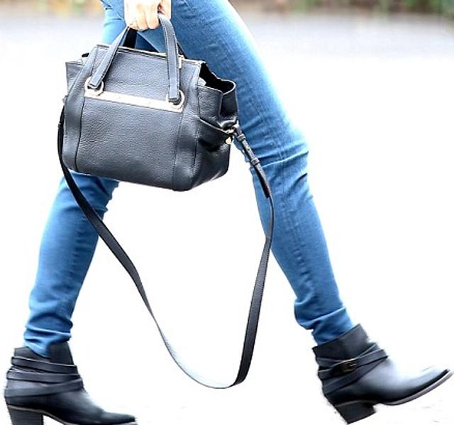 Chloe Red Pebbled Leather Bridget Shoulder Bag 91