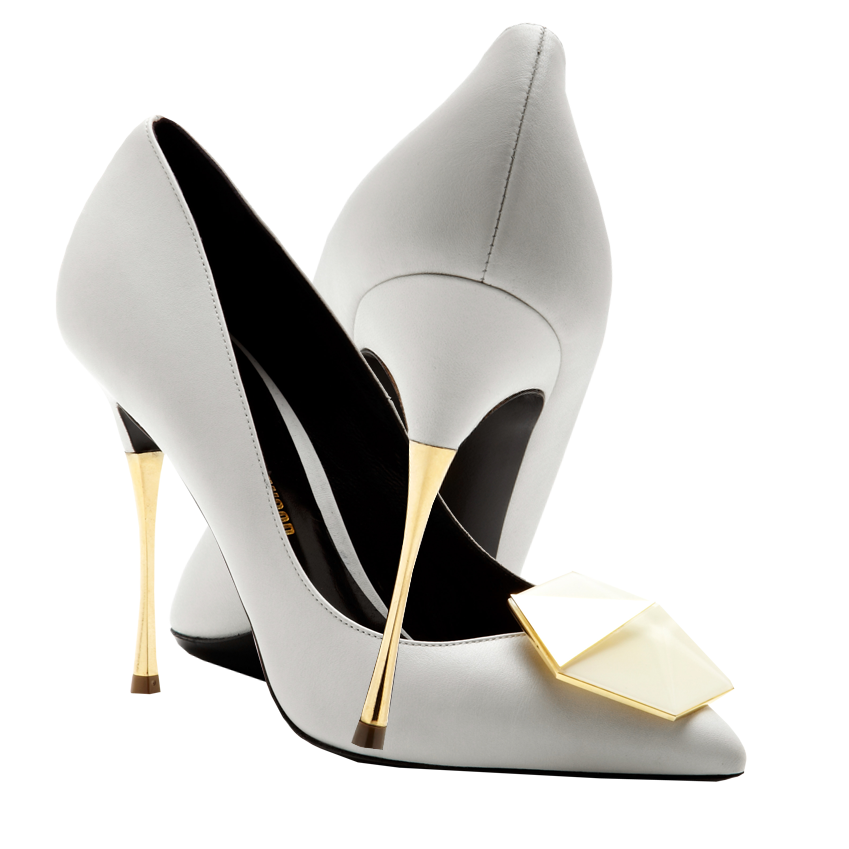 Nicholas Kirkwood white gold metallic stiletto heel Gilded Bijoux Leather Pumps