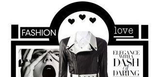 Black and white calf leather cropped biker jacket Philipp Plein Saint Laurent black white stripe mini skirt knee high boots white button up shirt