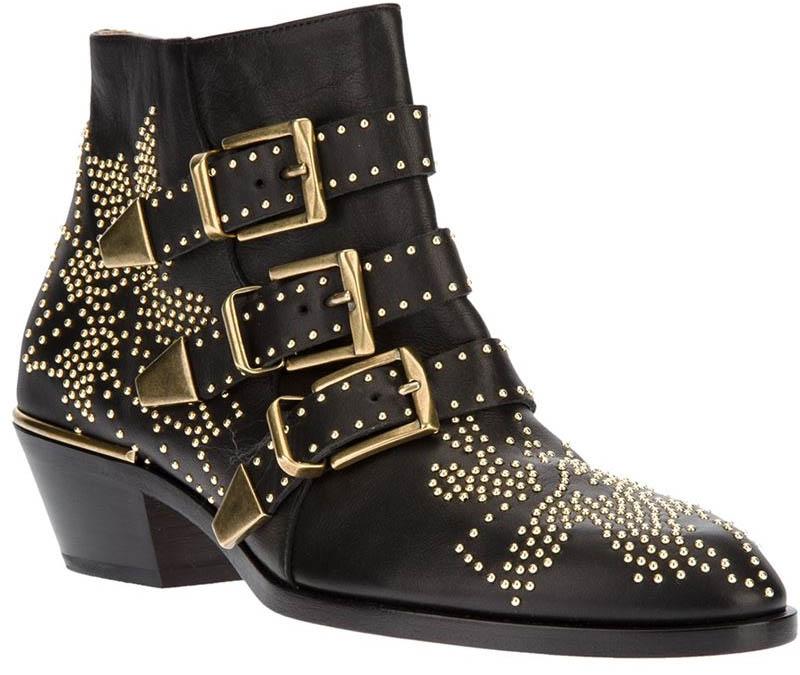 Chloe black studded Suzanna boots