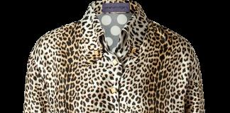 Emanuel Ungaro Silk Leopard print front polka dot back button down blouse