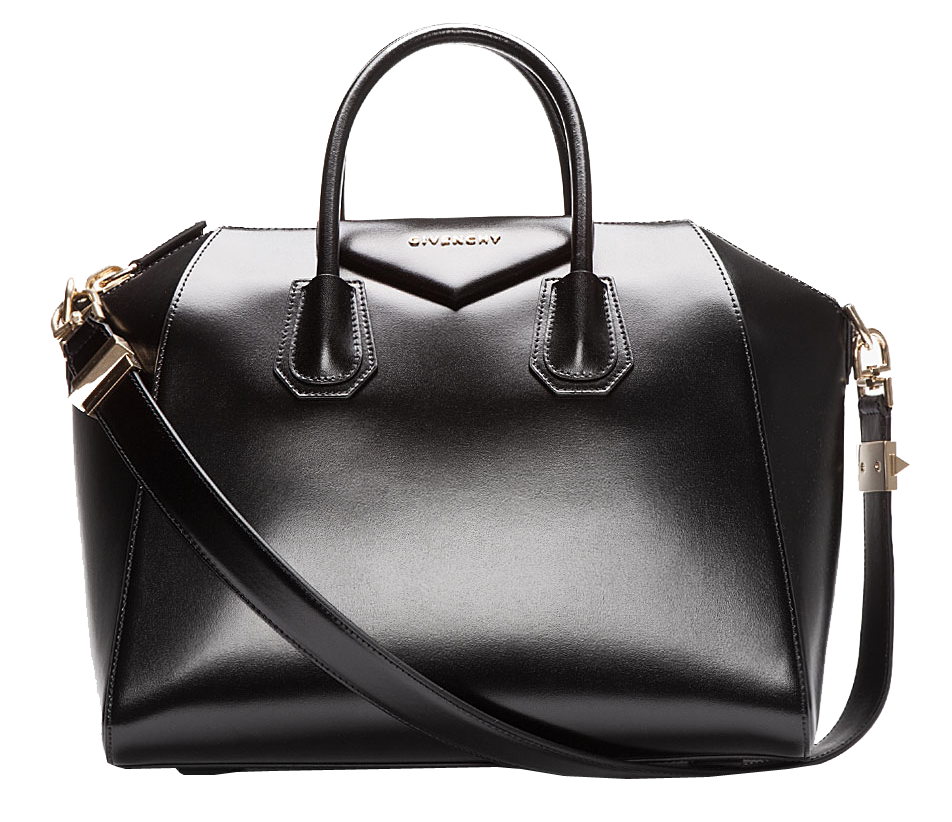 Givenchy Black buffed leather Medium Antigona duffle bag