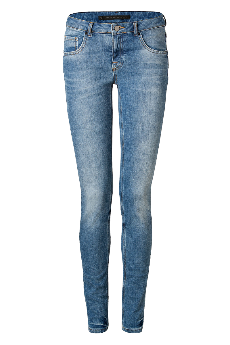 Victoria Beckham Denim faded blue super skinny jeans