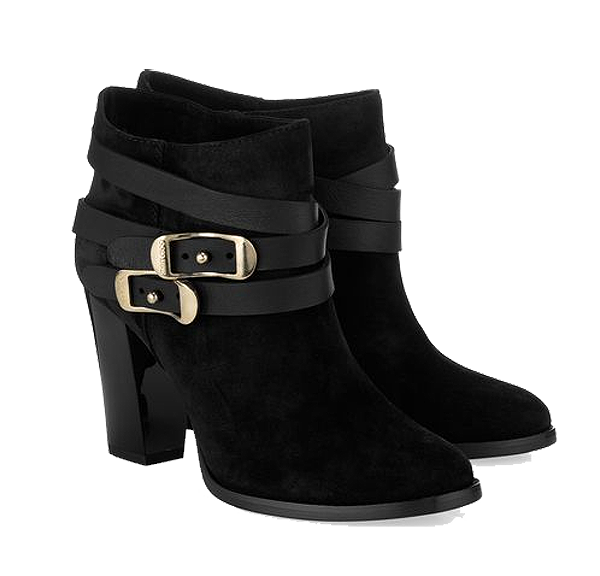 Jimmy Choo black Melba Sandalwood Suede and Nappa Ankle Boots