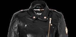 Just Cavalli black Quilted Leather Biker Jacket