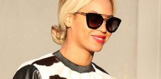 Beyonce hair calf cow print long leather sleeved top