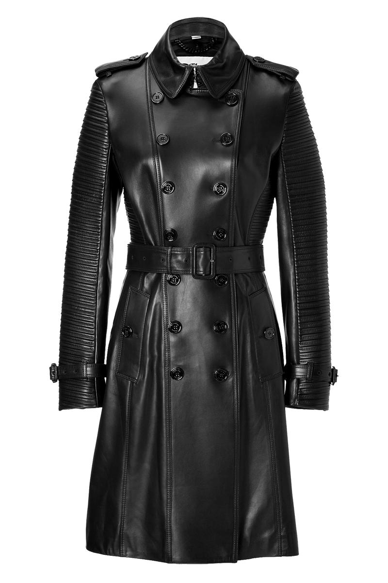 Burberry London Lambskin Torquay Trench in Black